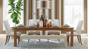 honey colored dining table love the white and honey colored wood together residential design