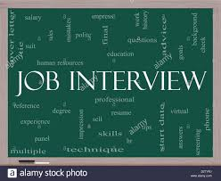 Job Interview Resume by Job Interview Word Cloud Concept On A Blackboard With Great Terms
