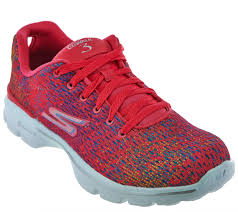 skechers go walk 3 printed lace up sneakers digitize a279384