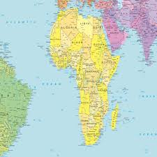 Gabon Map Peters World Map Maps And Directions At Map