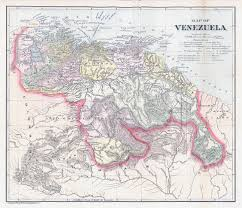 Old Map South America by Large Scale Old Political Map Of Venezuela With Relief 1900
