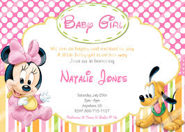 minnie mouse baby shower invitations disney baby minnie mouse baby shower invitations pluto