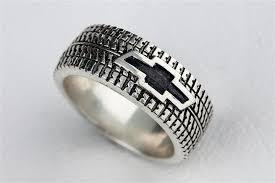 tire wedding rings car tire tread ring wedding band ring by rockmyworldinc on etsy