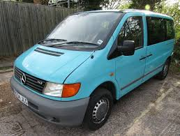 1998 mercedes vito 113 turquoise petrol manual wheelchair lift and