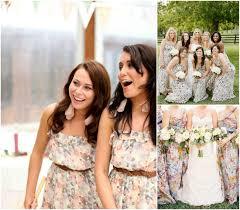 print bridesmaid dresses bridesmaid chic floral print dresses bajan wed