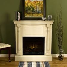 White Electric Fireplace Charlet Antique White Electric Fireplace Antique White