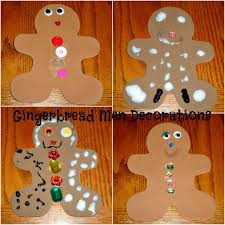 gingerbread men decorations christmas fun pinterest