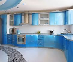 Blue Kitchen Paint Kitchen Decorating Painting Kitchen Cabinets Royal Blue Kitchen