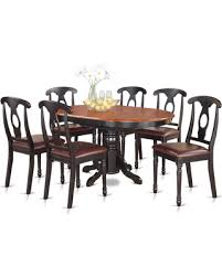 Black Oval Dining Room Table - huge deal on 7 piece pedestal oval dining table and 6 dining
