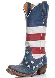 womens boots blue roper s flag snip toe cowboy boots