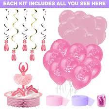 ballerina party supplies ballerina party decoration kit party supplies walmart