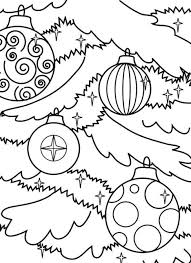 tree ornaments coloring pages