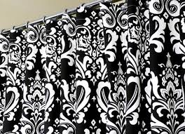 White And Black Damask Curtains Black And White Damask Shower Curtain Decor Ideasdecor Ideas 5