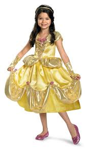 beautiful halloween costumes for girls disney belle shimmer deluxe child costume