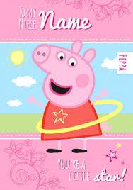 peppa pig birthday peppa pig birthday card to my niece funky pigeon