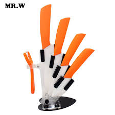 Coloured Kitchen Knives Set 6 Colors Kitchen Ceramic Knife Set And Accessories Set Chef Knife