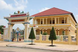 Decoration Of Temple In Home Cao Dai Temple In Tay Ninh Vietnam