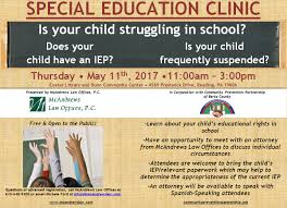 Free Power Of Attorney Form In Spanish by May 11th 2017 Free Special Education Clinic Mcandrews Law Firm