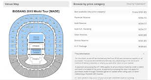 confirmed seating plan for bigbang made australian tour the