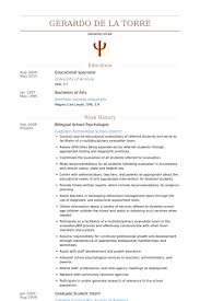Sample Resume For Bilingual Teacher by Psychologist Resume Samples Visualcv Resume Samples Database