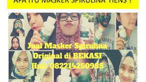 Masker Spirulina Per Butir jual masker spirulina original di bekasi hub 082214250985
