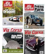 via corsa magazine 1 year subscription u s only via corsa