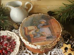 handcrafted home decor wooden round box decoupage eco friendly handcrafted home decor