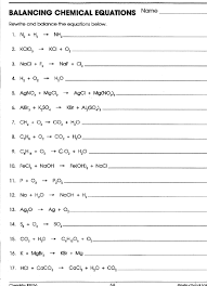 balancing chemical equations worksheet answers 1 25 fts e info