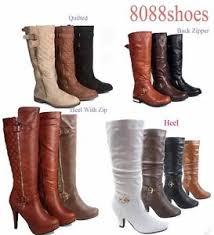 zipper boots s s low high heel zipper mid calf knee high boot shoes