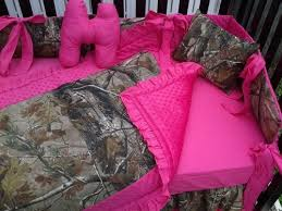 Pink Camo Baby Bedding Crib Set Tree Camouflage And Pink Bumperless Crib Bedding Set