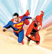 history superman flash races cavalcade awesome