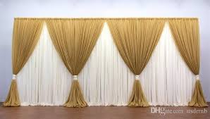 wedding backdrop gold 10ft 20ft gold and white wedding backdrop stage curtain wedding