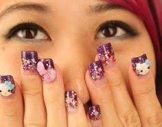 hello kitty face pedicure hello kitty nails pinterest