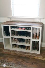 Woodworking Storage Shelf Plans by Best 25 Diy Shoe Rack Ideas On Pinterest Shoe Rack Diy Shoe
