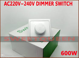 retail 220v 240v 600w lighting dimmer switch for dimmable gu10