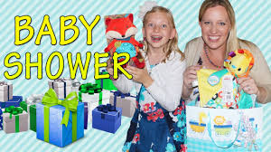 baby shower present opening food u0026 games youtube