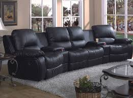 Black Leather Sofa Recliner Black Leather Reclining Sectional Sofa Sanblasferry