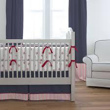 red and navy baseball crib bumper carousel designs