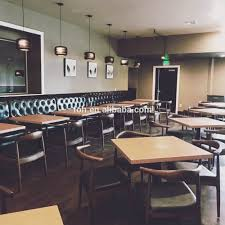 modern restaurant booth seating with 2 seater table foh cbck06