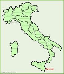 Syracuse Ny Map Syracuse Location On The Italy Map