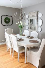 243 best home design dining room images on pinterest kitchen neutral gray dining room love the plate wall on both sides of a beautiful mirror