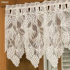 Lace Valance Curtains Lace Kitchen Curtains For A Home