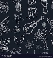 hawaiian pattern skirt hawaii seamless pattern including hula skirt vector image