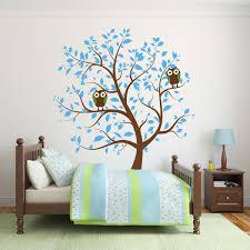 Nursery Owl Wall Decals Blue Nursery Tree With Owls Wall Decal Wall Decal World