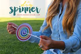 diy kids craft spinner youtube