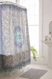 Amazon Com Shower Curtains - amazon com boho chic moroccan paisley pattern navy blue fabric