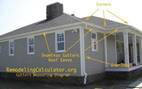 Gutter Installation Estimate by Gutter Installation Cost Calculate Seamless Gutters Price Per