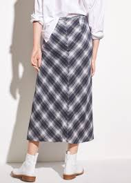silk skirt shadow plaid side drape silk skirt for women vince