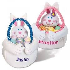 personalized bunny easter basket bunny treat baskets lillian vernon