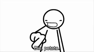Funny Meme Gifs - die potato gif on imgur